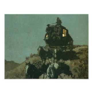 Remington's Old Stagecoach of the Plains (1901) 4.25x5.5 Paper Invitation Card