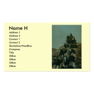 Remington's Old Stagecoach of the Plains (1901) Business Card Template