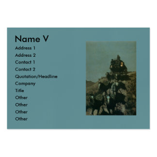 Remington's Old Stagecoach of the Plains (1901) Business Card Templates