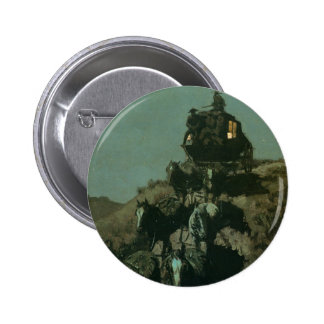 Remington's Old Stagecoach of the Plains (1901) 2 Inch Round Button
