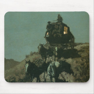 Remington's Old Stagecoach of the Plains (1901) Mouse Pad