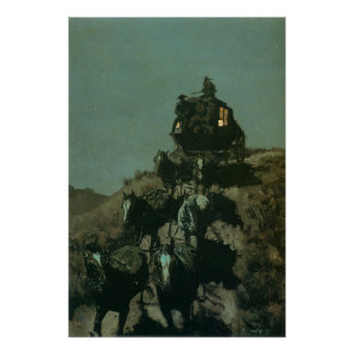 Remington's Old Stagecoach of the Plains (1901) Poster