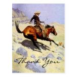 Remington's The Cowboy Post Card