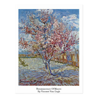 Reminiscence Of Mauve By Vincent Van Gogh Post Cards