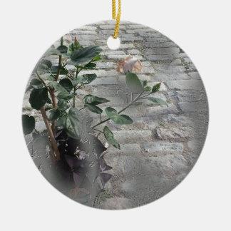 Reminiscent Rose Ceramic Ornament