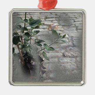 Reminiscent Rose Metal Ornament