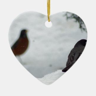 Reminiscing Robin Ceramic Ornament