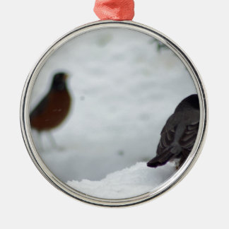 Reminiscing Robin Metal Ornament