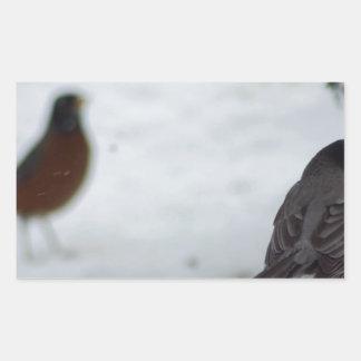 Reminiscing Robin Rectangle Sticker
