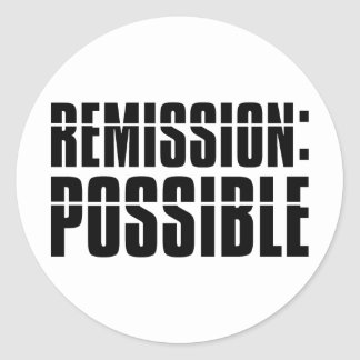 Remisión posible pegatina redonda