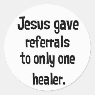 Remisiones de Jesús Pegatina Redonda