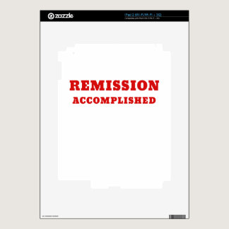 Remission Accomplished Decal For iPad 2