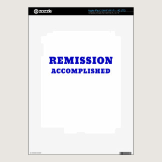 Remission Accomplished Decal For iPad 3