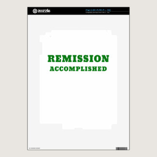 Remission Accomplished iPad 2 Decal