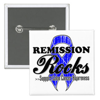 Remission Rocks - Colon Cancer Awareness Button