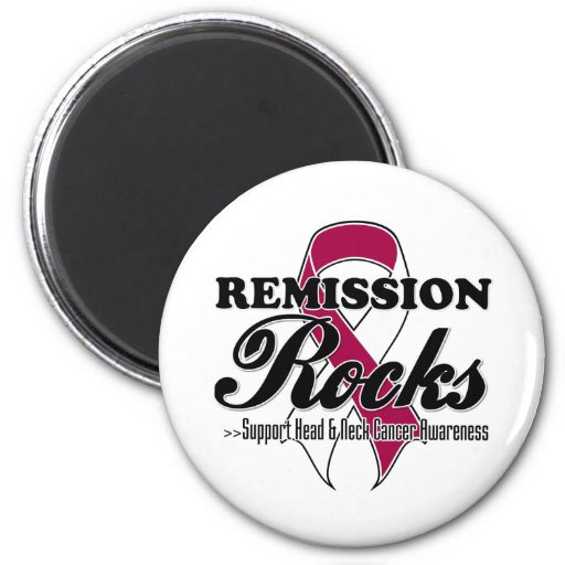 Remission Rocks - Head and Neck Cancer  Awareness Refrigerator Magnets