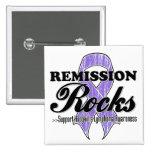 Remission Rocks - Hodgkin's Lymphoma Awareness Pins
