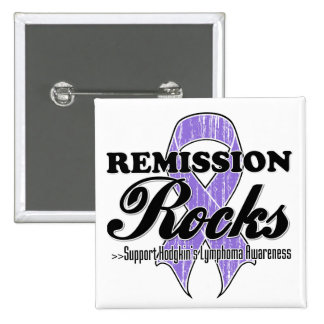 Remission Rocks - Hodgkin's Lymphoma Awareness Button