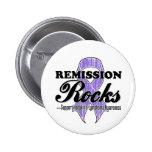 Remission Rocks - Hodgkin's Lymphoma Awareness Pinback Buttons