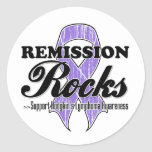 Remission Rocks - Hodgkin's Lymphoma Awareness Round Stickers