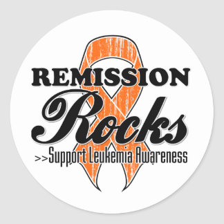 Remission Rocks - Leukemia Awareness Classic Round Sticker