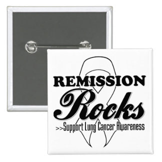 Remission Rocks - Lung Cancer Awareness Pinback Button