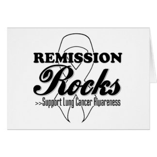 Remission Rocks - Lung Cancer Awareness Greeting Card