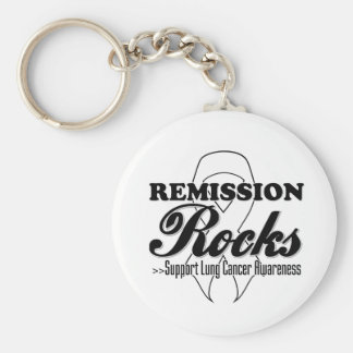 Remission Rocks - Lung Cancer Awareness Key Chain