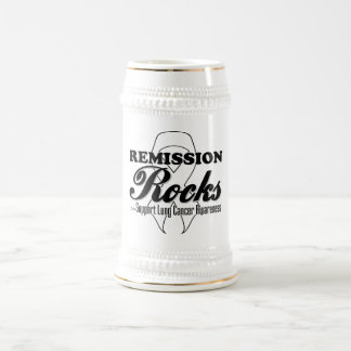 Remission Rocks - Lung Cancer Awareness 18 Oz Beer Stein