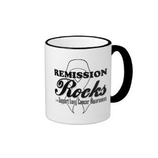 Remission Rocks - Lung Cancer Awareness Ringer Coffee Mug
