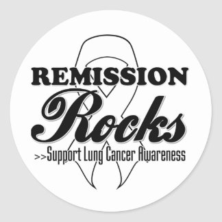 Remission Rocks - Lung Cancer Awareness Classic Round Sticker