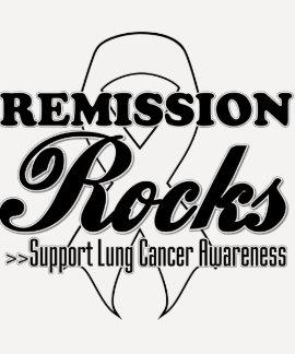 Remission Rocks - Lung Cancer Awareness Tshirt