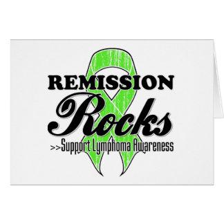 Remission Rocks - Lymphoma Awareness Greeting Card