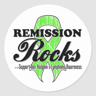 Remission Rocks - Non-Hodgkins Lymphoma Awareness Classic Round Sticker