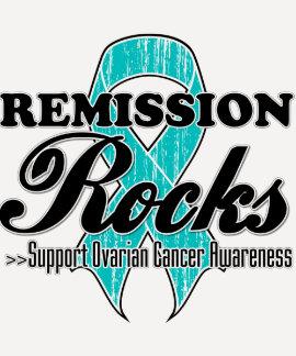 Remission Rocks - Ovarian Cancer Awareness T-Shirt