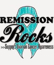Remission Rocks - Ovarian Cancer Awareness Tee Shirt