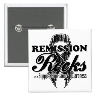 Remission Rocks - Skin Cancer Awareness Pinback Button