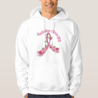 Remission Since 1971 Breast Cancer Hooded Pullovers