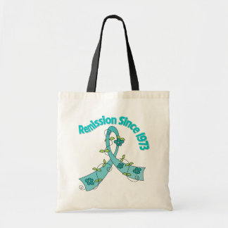 Remission Since 1973 Ovarian Cancer Canvas Bags