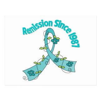 Remission Since 1987 Ovarian Cancer Postcard