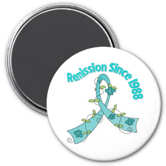 Remission Since 1988 Ovarian Cancer 3 Inch Round Magnet