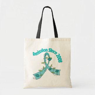 Remission Since 2008 Ovarian Cancer Canvas Bags