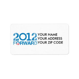 Remita el vintage 2012 etiquetas de dirección