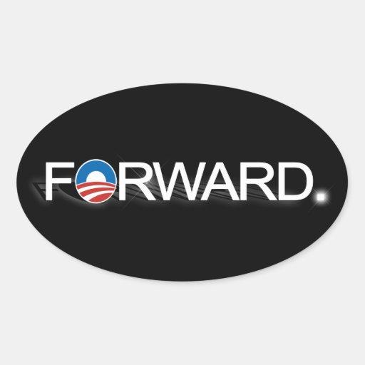 Remita para Obama 2012 Pegatina Ovalada