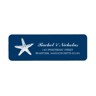 Remite agraciado de las estrellas de mar el | etiquetas de remite