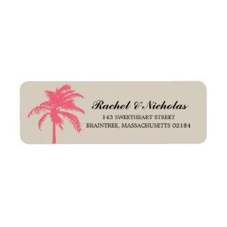 Remite coralino de la palmera el | etiqueta de remite
