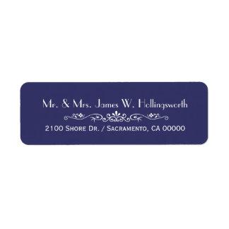 Remite de encargo azul de la regencia elegante etiquetas de remite