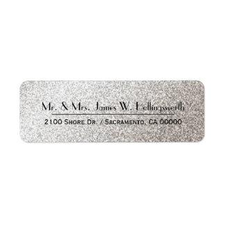 Remite de encargo de la chispa de plata elegante etiqueta de remite