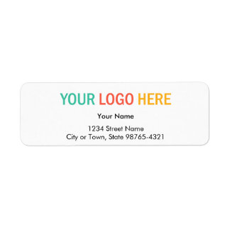 Remite de la compañía del logotipo rectangular del etiqueta de remite