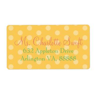 Remite de la fiesta de bienvenida al bebé amarilla etiqueta de envío